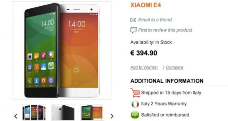 Xiaomi Mi4 India release date excitement