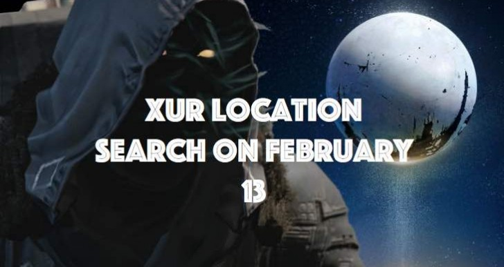 Looking for Xur location in Destiny on February 13