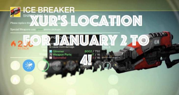 Destiny Xur location excitement for January 2 to 4