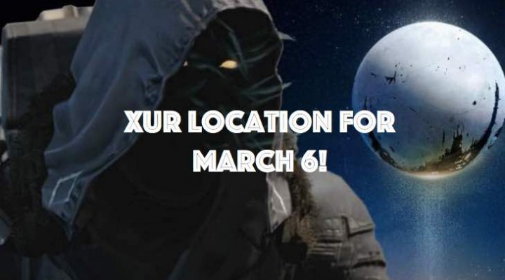 Xur location on March 6 for Destiny addicts