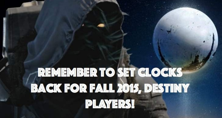 When to set clocks back for Destiny Xur Fall 2015