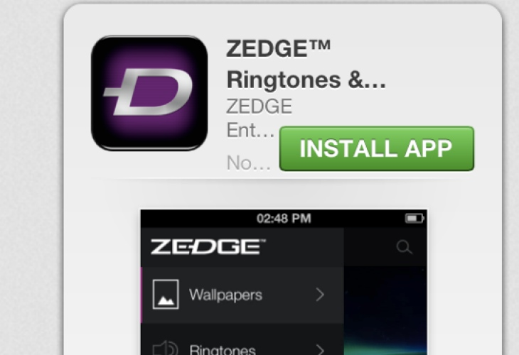 Zedge App On Iphone Needs Tonesync Product Reviews Net