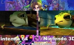 Zelda Majora's Mask 3DS Vs N64 graphics impress