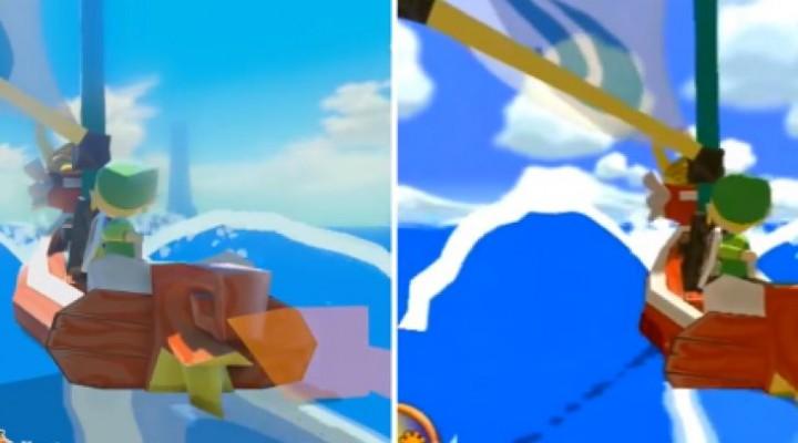 Wii U Zelda Wind Waker Vs Gamecube graphics